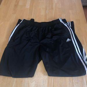 Adidas men's black joggers L